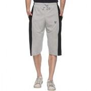 Vimal-Jonney Gray Cotton Blended Capri For Men