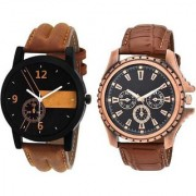 True Colors New LR Brown and Formal Brown Color Combo Watch - For Men