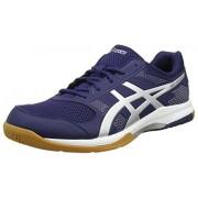 ASICS Men's Gel-Rocket 8 Indigo Blue/Silver/White Indoor Multisport Court Shoes - 9 UK/India (44 EU)(10 US)