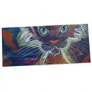 KESS InHouse Padgett Mason Rave Kitty Office Desk Mat Blotter Pad Mousepad 13 x 22-Inches