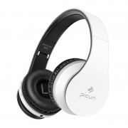 PICUN B16 Over-ear Bluetooth 5.0 Hands-free Foldable Headphone Support TF Card / Aux-in - White