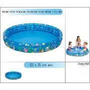 Jilong Océano Peces Tropicales Pool 122 - Piscina Infantil con Tema, para niños DE 2 - 6 Años, Ø122 X 25 Cm