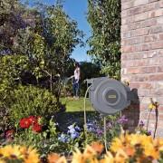 Hozelock záhradná hadica na stenu s automatickým navijákom, šedá, 20 m