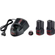 Akumulatorski set 12V punjač + 2 baterije Bosch GAL 1230 CV + 2 x GBA 12V 3,0Ah (1600A00X7E)