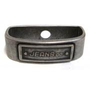 Jeans kovové pútko starostriebro
