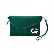 Little Earth NFL Pebble Fold Over Crossbody Green Bay Packers