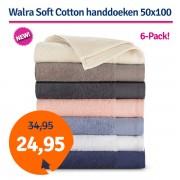 Walra Soft Cotton Voordeelpakket Handdoek 50x100 Roze - 6 stuks
