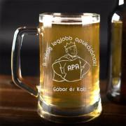 'Apa a király' söröskorsó