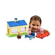 Peppa Pig School & Family Push Along Car Playset Toy