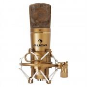 Auna CM600 USB Microfone Condensador de Estúdio Dourado