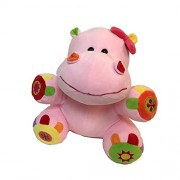 Linzy Plush Hippo Activity Toys Plush Animal, Pink, 10""