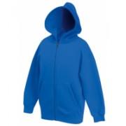 Zip Kids Hooded Sweat Jacket Royal Blue