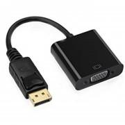 Cable Adaptador Dp M Display Port A Vga H 20cms Generico - Negro