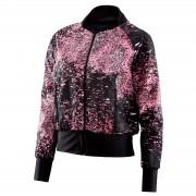 Skins Women's Activewear Interlect Bomber Jacket - Stardust - XS - Black/Pink