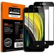 Spigen Glass FC 2 Pack Black iPhone 8/7