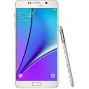 "Telefon Mobil Samsung Galaxy Note 5, Procesor Octa-Core 1.5GHz / 2.1GHz, Super Amoled Capacitive touchscreen 5.7"", 4GB RAM, 32GB Flash, 16MP, Wi-Fi, 4G, Dual Sim, Android (Alb) + Cartela SIM Orange PrePay, 6 euro credit, 4 GB internet 4G, 2,000 minute nat"