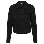 Noisy May Nmdebra L/s Black Denim Jacket Bg : - zwart - Size: Large