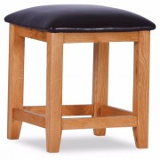 Orland Oak Dressing Stool – Assembled