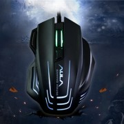 Aula Series Ghost Shark II Colourful Light 7D Optical Competitive USB Wired Game Mouse Maximum Resolution of 4000 DPI(Black)