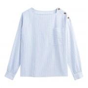LA REDOUTE COLLECTIONS Bluse mit Karree-Ausschnitt und langen Ärmeln