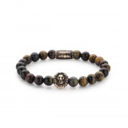 Rebel&Rose armband - Who's afraid of the Lion - rose gold plated