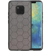 Hexagon Hard Case voor Huawei Mate 20 Pro Grijs