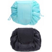 Glowing Buzz Cosmetic bag/ Travel pouch/ Premium quality/ Latest collection/ Cosmetic kit Travel Toiletry Kit(Black, Blue)