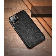 XOOMZ Litchi Grain Genuine Leather Phone Casing for iPhone 11 Pro Max 6.5 inch (2019) - Black