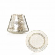 Yankee Candle Accessori Kensington Mercury Crackle Glass Small Shade And Tray