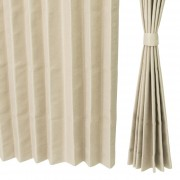 イージーオーダードレープカーテン100cm2枚組 136-177cm【QVC】40代・50代レディースファッション