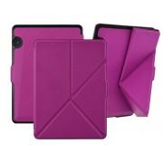 Etui futerał origami do Amazon Kindle Voyage na magnes fioletowe