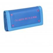 Billetera Cloe Flap Detalle De Remaches En Corazón - Azul