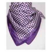 Paarse pied-de-poule shawl