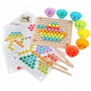 Joc Montessori de indemanare si asociere cu bile