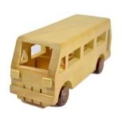 BuzyKart Decorative Wooden Bus Toy Cum Showpiece