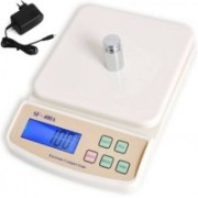 Zblack New Electronic Sf 400A 10kg with adapter Weighing Scale(Off-White)