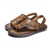 Moda Hombre Verano Sandalia Slip-on Zapatillas casual todo estilo zapatos Amarillo
