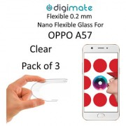 Digimate Nano Clear 0.2 mm Screen Guard Protector Flexible Glass for Oppo A57 (Pack of 2)