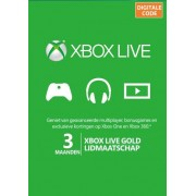 Microsoft Xbox Live Gold abonnement 3 maanden Xbox Live Code