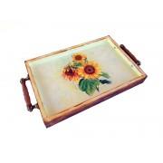 Tava lemn - floarea soarelui - 1503