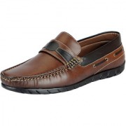 Fausto Men's Brown Trendy Loafers