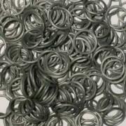 Elastice Rainbow Loom - Metalic Argintiu-300 buc