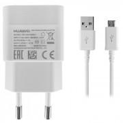 Huawei Travel Charger 1000mA HW-050100E01 - захранване за ел. мрежа и microUSB кабел (1 МЕТЪР) за мобилни устройства (бял)