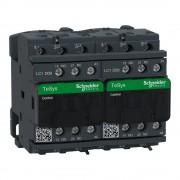 Forgásirányváltó magneskapcsoló, 4kW/9A (400V, AC3), 220V DC vezerlés, 1Z+1Ny, csavaros csatlakozás, TeSys D (Schneider LC2D09MD)