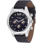 Imperial Club Round Dial Blue Leather Strap Men Quartz Watch