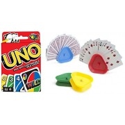 Board Games: Uno Card Game & 4 Hands-Free Playing Card Holders by ForTheBeautiful