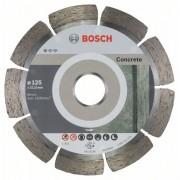 Диск диамантен за рязане Standard for Concrete, 125 x 22,23 x 1,6 x 10 mm, 10 бр./оп., 2608603240, BOSCH