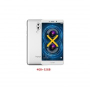 Smartphone Libre Huawei Honor 6X Android 6.0 3G Kirin 655 Octa Core 4GB+32GB Desbloqueado -Plateado EU Plug