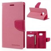 Mercury Pouzdro / kryt pro Samsung Galaxy S6 - Mercury, Fancy Diary Pink/Hotpink