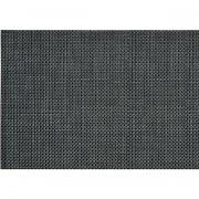 Merkloos 8x Placemat antraciet geweven/gevlochten 45 x 30 cm